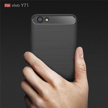 For Coque VIVO Y71 Case Carbon Fiber Soft ShockProof Case Silicone Full Protector For Fundas VIVO Y71 Y 71 Back Cover купить недорого в Москве