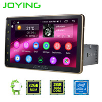Joying 2GB RAM 1DIN Android 6.0 HD 8'' screen Vehicle GPS Luxury gold Bluetooth Audio Stereo SWC Car Head Unit Radio Navi Player