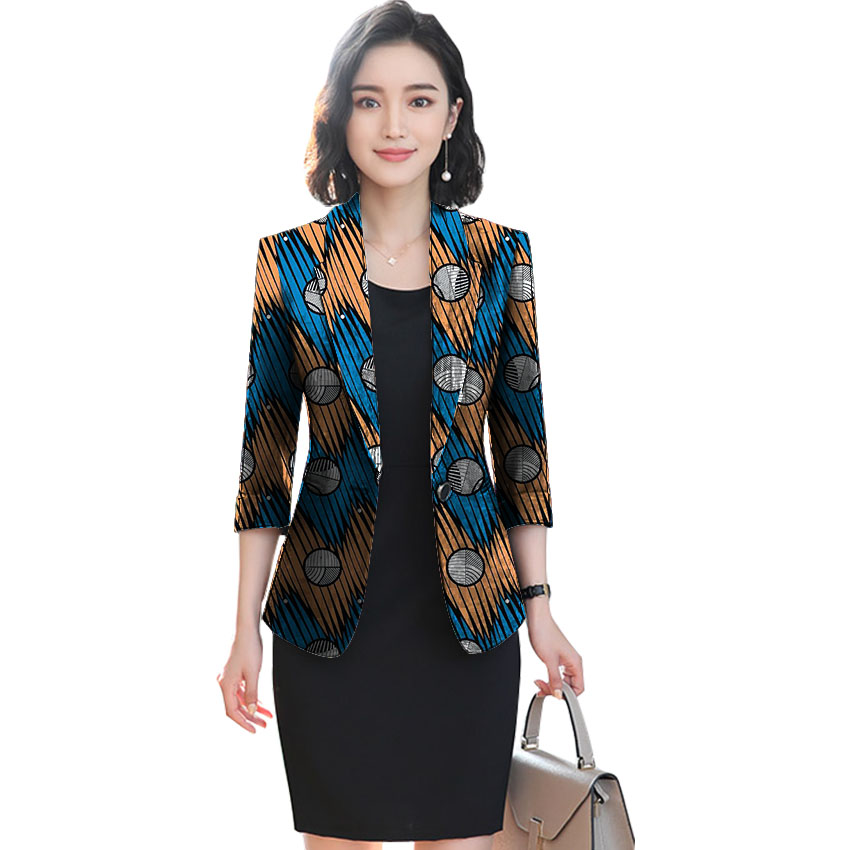African festival fashion print women slim blazers elegant design style tops dashiki casual suit africa clothing