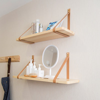 Nordic style PU Wood Storage Rack Minimalism Beech Shelf Wall Hanging Home Organizer Shelf Holder Home Decoration For Vase Book