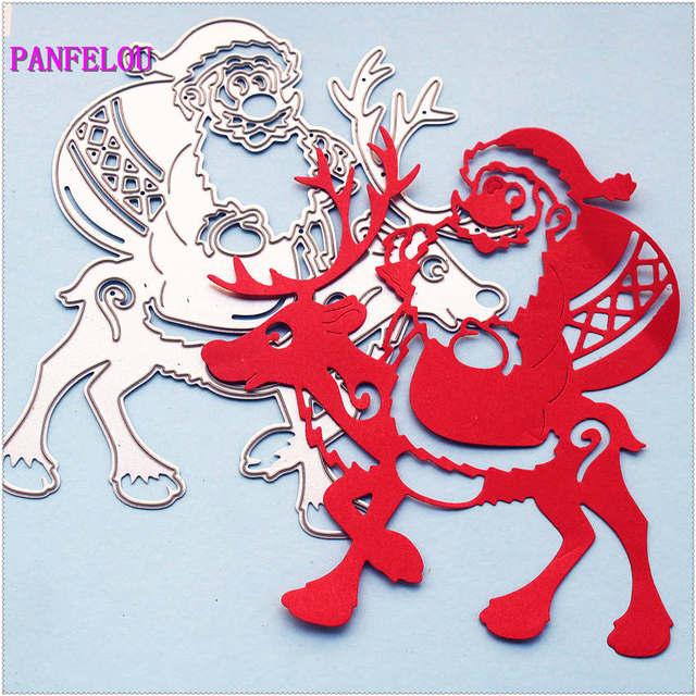 PANFELOU Металлическое ремесло оленей Санта-Клауса высечки бумаги штампы для Скрапбукинга/DIY Рождество свадьба Хэллоуин карты