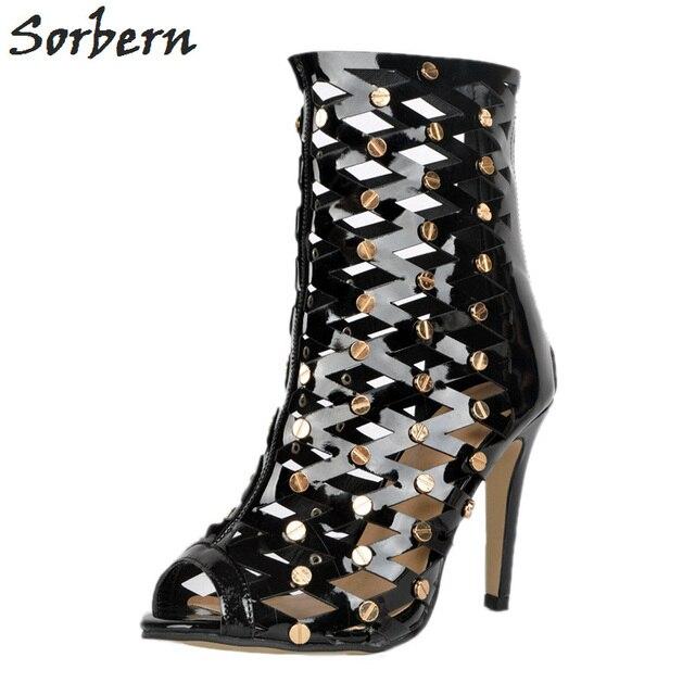 Sorbern Sandals Shoes For Women Big Sizes Summer 2018 Black Ladies Luxury Designer Shoes Women Luxury Sandals Plus 34-48
