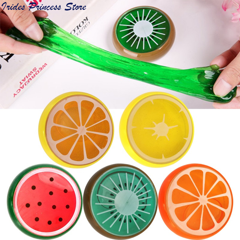 1PC Crystal DIY Fruit Watch Mud Jelly Non-toxic/magnetic Silly Handgum Putty Ferrofluid Polyer LIZUN Spoof Lizunov Baby Toys