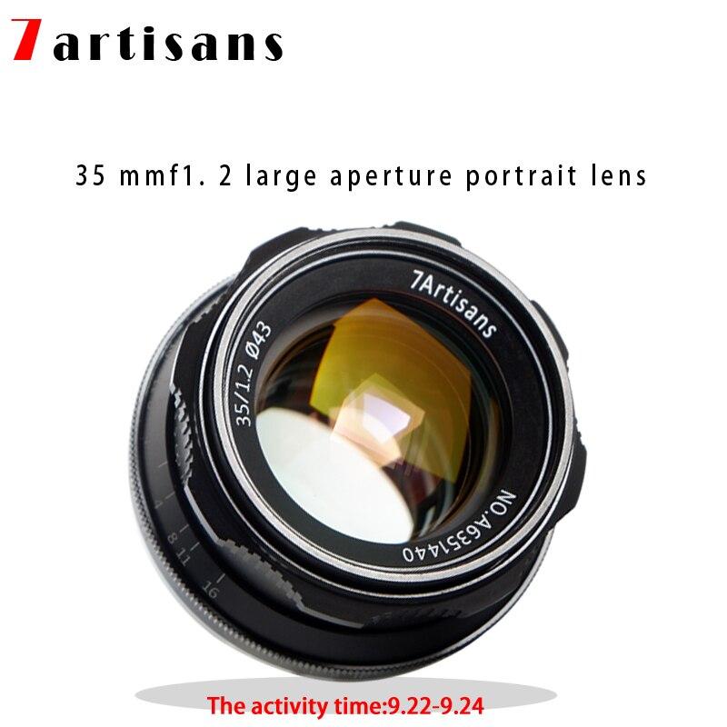7 artisans 35mm F1.2 APS-C Manuel Objectif Fixe Pour E Montage Canon EOS-M Mont Fuji FX Mont Hot Vente livraison Gratuite