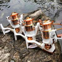 Спиннинговая рыболовная Катушка 12BB + 1 подшипниковые шарики серии 500-9000 металлическая Катушка спиннинговая Катушка лодка рок рыболовное кол...