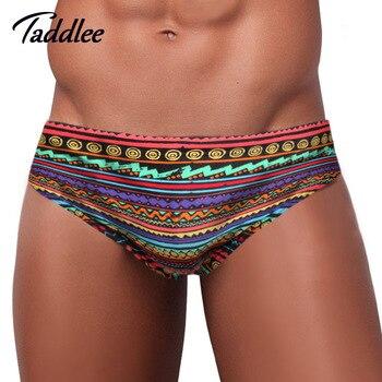 Daddlee marca hombre Swimwwear trajes de baño breve Bikini cintura baja hombres ropa de baño Boxers troncos Gay Surf Board Shorts Europa tamaño