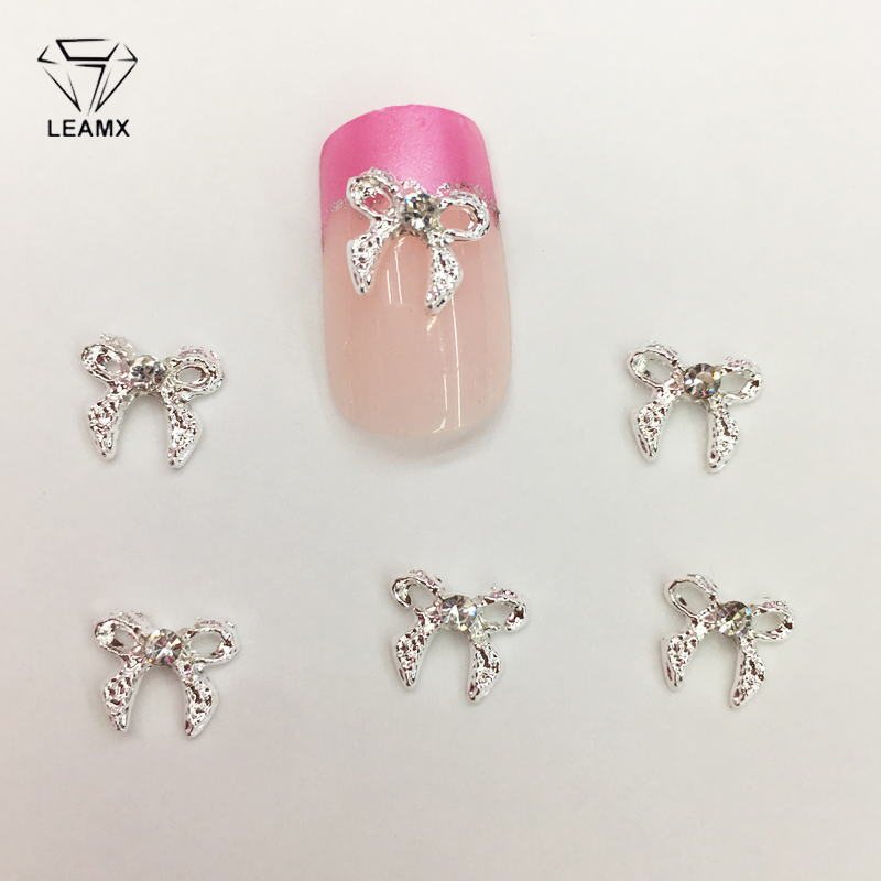 10 PCS/bag Nail Art Decorations 3D Rhinestone Bow Charm Drill Sparkling Rhinestone Nails Charms Diamonds For Manicure Decor