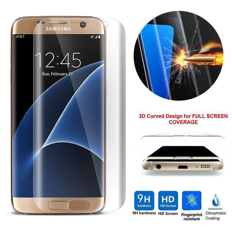 <font><b>Tempered</b></font> <font><b>Glass</b></font> 3D <font><b>Curved</b></font> Clear Premium <font><b>Full</b></font> Cover <font><b>Screen</b></font> <font><b>Protector</b></font> Film For Samsung Galaxy S7 Edge S6 Edge Plus