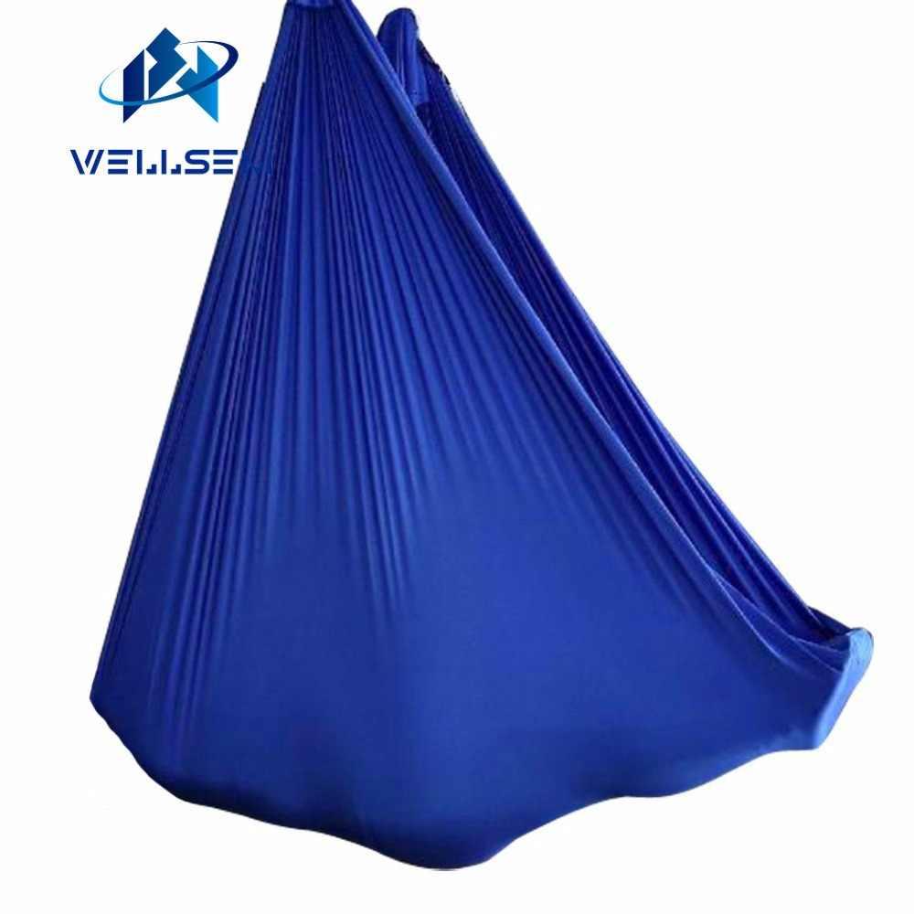 Подгонянная длина -- Воздушный полет Йога-гамак ткань качели трапеция анти-Гравитация Инверсия воздушная тяга сенсорное устройство