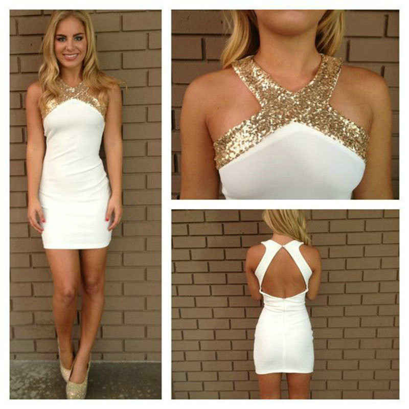 Popular White Gold Cocktail Dresses-Buy Cheap White Gold Cocktail ...