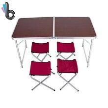 Fireprofing доска офис складной стол Портативный Indoor Открытый Пикник Кемпинг центр Раскладные столы с 4 Раскладные стулья