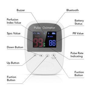 Image 5 - כף יד Bluetooth אצבע נייד APP דופק Oximeter אוטומטי זיכרון 24 שעה Spo2 PR צג למבוגרים ילדי ילוד Oximetro