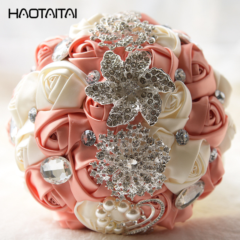 Bouquet De Mariage Artificial Wedding Flowers Wedding Bouquet For Brides Outside Wedding Brooch Bridal Bouquets 2018