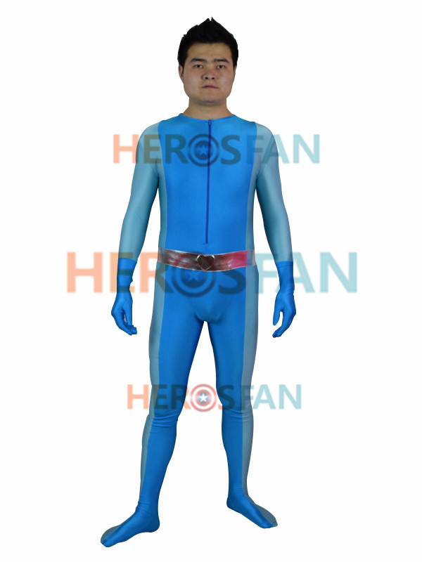 Totally Spies Britney Blue Spandex Superhero halloween party cosplay costume one piece zentai suit