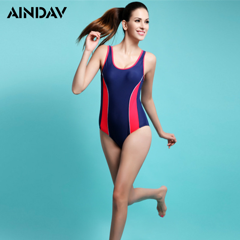 Professional Push Up Patchwork Swimwear Women One piece Swimsuit Female Beach Swim Bathing Suit Sports Racing Bodysuit Plus Size 2017 plus size swimwear women swimming dress sexy large one piece swimsuit push up beach dress patchwork bathing suit