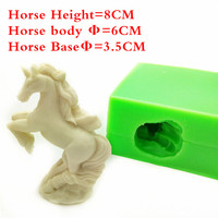3D Unicorn Shape Silicone Cake Mold Chocolate Mold Silicone Soap Molds Kitchen Accessories LH09