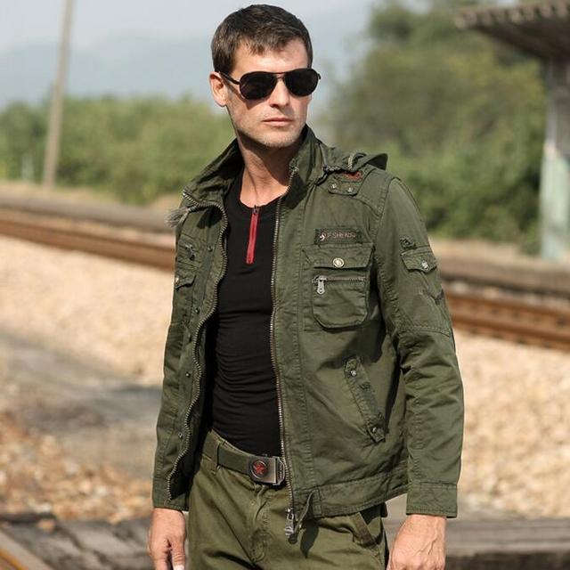 Aliexpress.com : Buy Men Military Style Army Green Jacket Garment ...