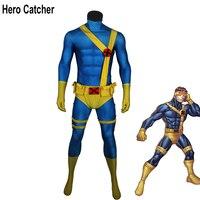 Герой Catcher высокое качество мышцы тени Циклоп Косплэй костюм с аксессуаром Циклоп Зентаи костюм