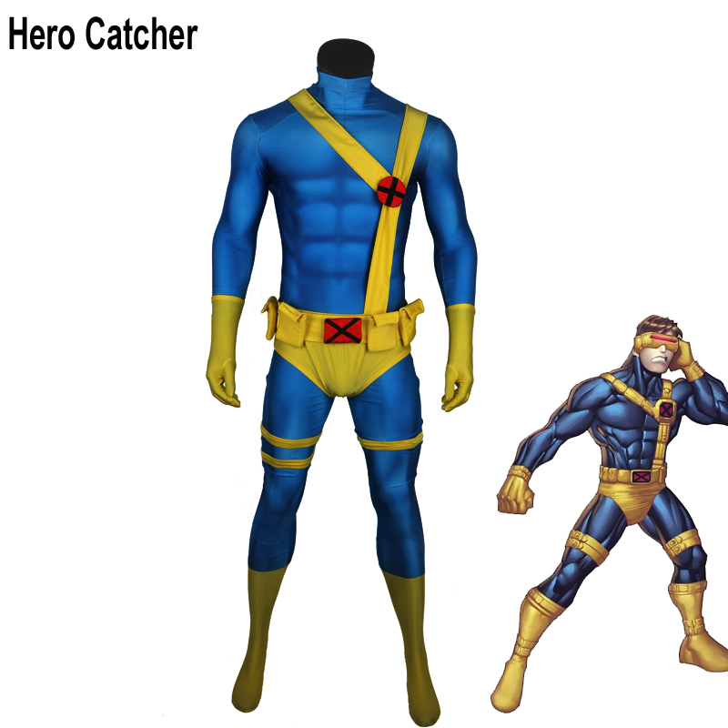 Hero Catcher High Quality Muscle Shade Cyclops Cosplay Costume With Accessory Cyclops Zentai Suit