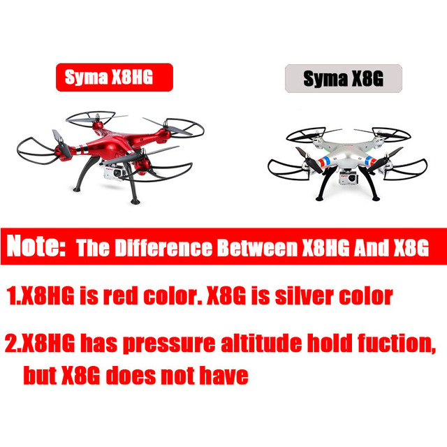 X8HG 2.4G 4ch 6 Axis with 8MP Wide Angle Hd Camera RC Quadcopter