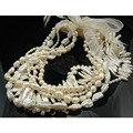 Chunky Pearl Necklace White Long Freshwater Pearl Necklace  Irregular   Biwa Designer Pearl Bead Necklace Many Methods Kpop