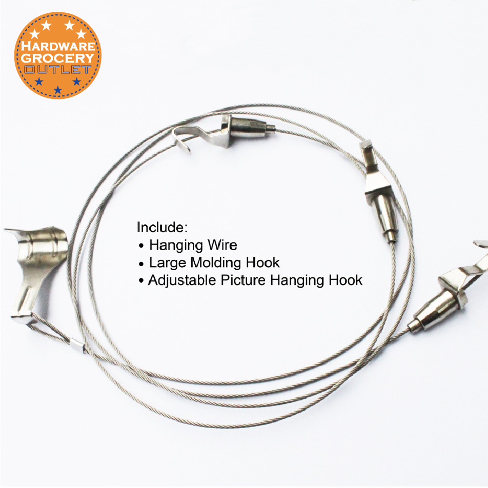 1.5m,4 pcs,Exhibition Art Hanging System;Gallery Large Picture/Photo/Paint Display Kit,Stainless Steel Wire,Molding Hook Hanger 50pcs lot wire hanger fastener hanging photo picture frame quick easy clutch release nickel plate movable head ceiling