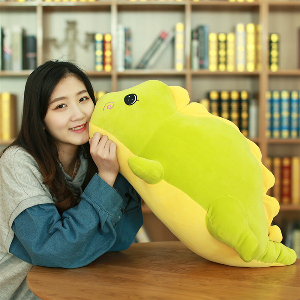 1pc 40-75cm Cute Staffed Dinosaur Plush Toys Soft Animal Doll Kids Kawaii Toy Hand Warmer Lovely Kids Christmas Gift Collection