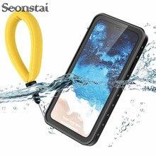Чехол для iPhone XS Max с защитой от снега, водонепроницаемая прозрачная задняя крышка для iPhone Xs Xr с браслетом