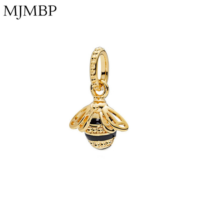 New Gold Metal bee DIY Pendant Charms Nice Fashion Beads Fit Pandoraa Gift For Bracelet & Necklaces Jewelry making Women Gifts