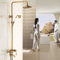 Free Shipping BAKALA Antique classic Brass 8 inch for the bathroom Chromed faucets bathroom shower GZ6002