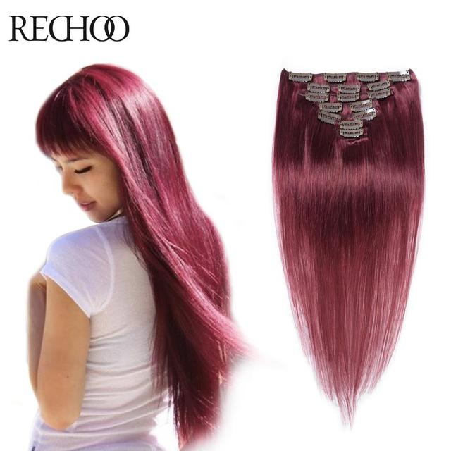 Virgin Peruvian Clip In Hair Extensions 120g Human Remy Easy Clips