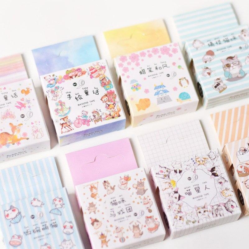 15mm*5m Criativa Shiba Dog Cat Animals Paper Washi Tapes DIY Diary Scrapbooking Decorative Masking Tapes For Kids Girls Gift