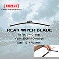 """Lâmina de Limpador traseiro para VW Crafter (2006-avante) 1 pc 17 """"425mm, Traseira Do Carro Brisas, Janela traseira Pára Wiper Blades"""