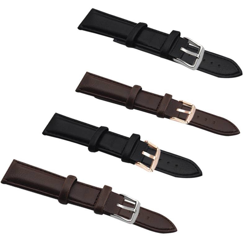 18MM 20MM men and women luxury brand leather strap casual quartz watch leather strap