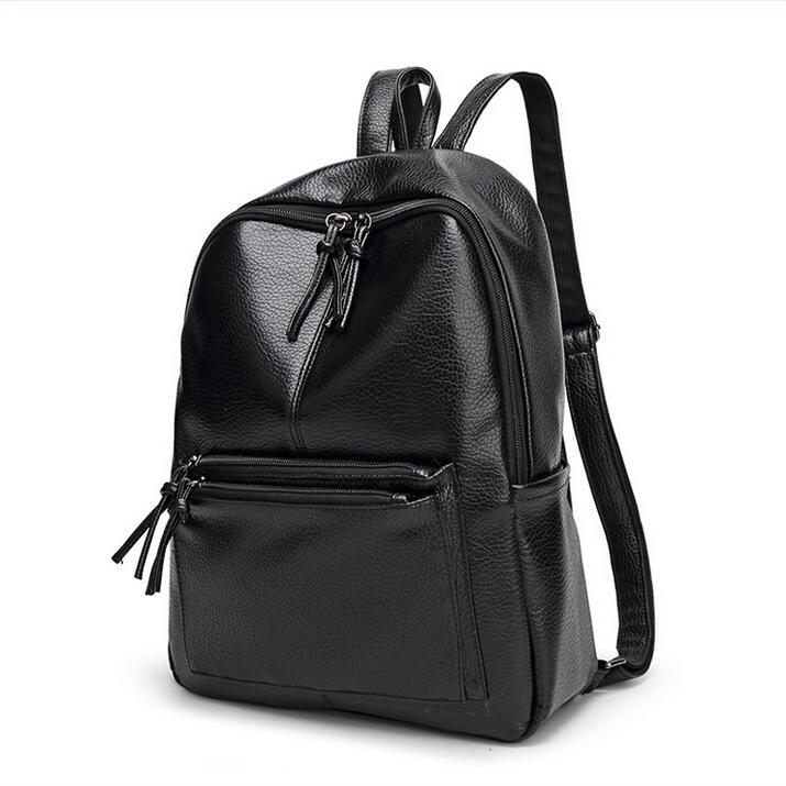 Fashion women s backpack women bag The rivet Travel bag Student backpack