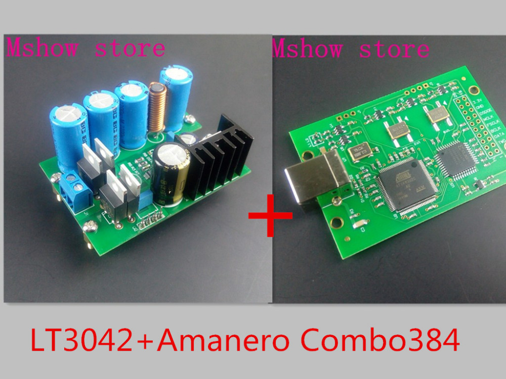Mshow Itly Amanero Combo384 upgraded version of USB board LT3042 precision power supply