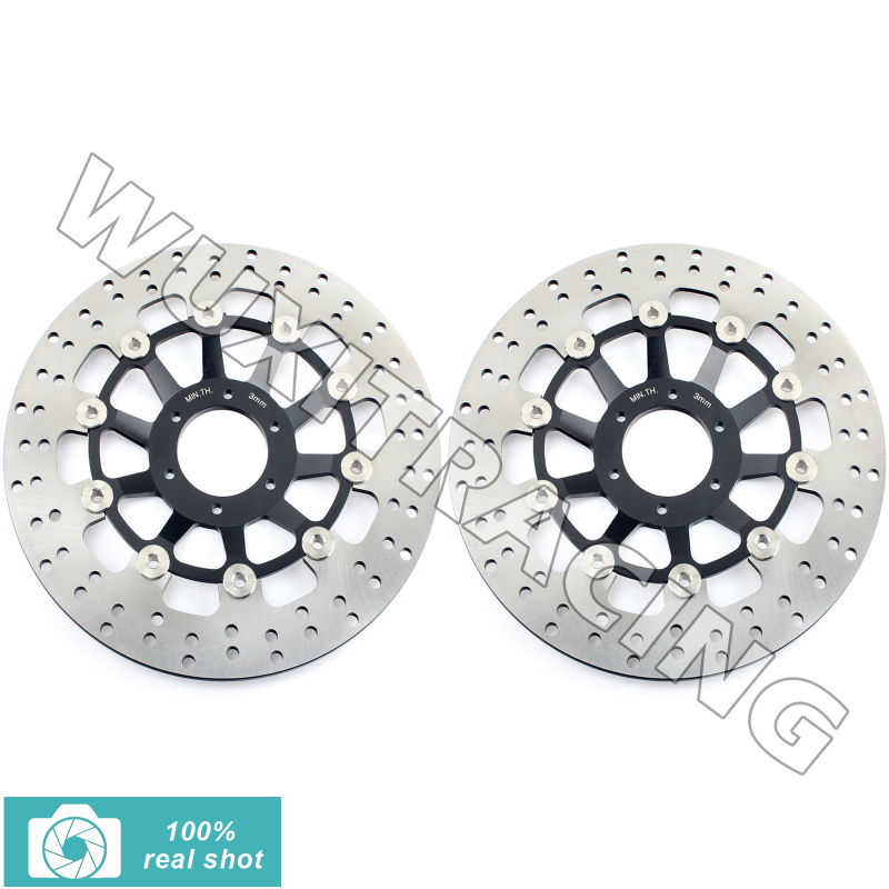 91 92 93 94 95 96 97 98 2pcs Round New Front Brake Disc Rotor for Honda CBR 250 RR 90-99 NSR 250 R NSR250R RR RSP MC18 MC21 MC28 94 95 96 97 98 99 00 01 02 03 04 05 06 new 300mm front 280mm rear brake discs disks rotor fit for kawasaki gtr 1000 zg1000