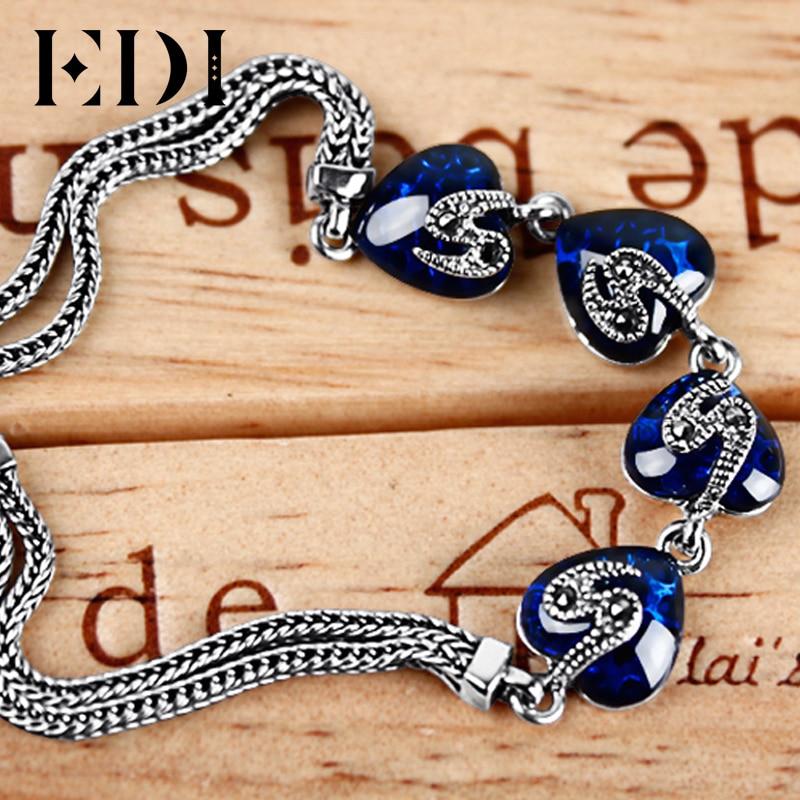 EDI Kvinnor 925 Thai Sterling Silver Ankel Armband För Kvinnor - Fina smycken - Foto 4