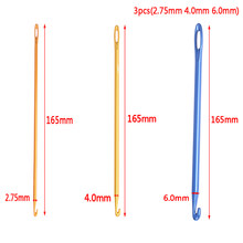 1pc/3pcs 2.75mm 4.0mm 6.0mm Afghan Tunisian Aluminum Crochet Hook DIY Knit Tool With An Eye Knitting Sewing Needle Crochet Hook(China)