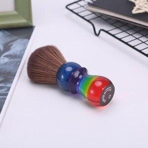 Image 3 - Yaqi 26 Mm Regenboog Bruin Synthetisch Haar Scheren Borstels