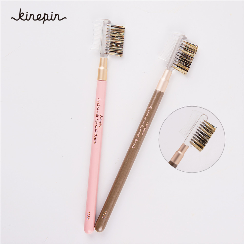 1PC Četka za obrve i trepavice Profesionalna četka za šminkanje za dvostruku uporabu za češljanje i oblikovanje kose za brijanje