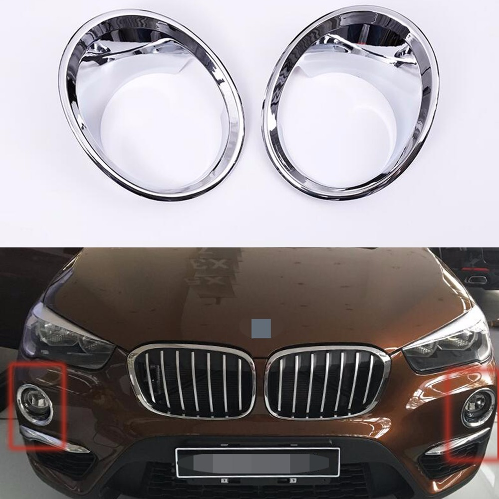 Car accessories front fog light lamp cover ring decor trim for Automobile decoration accessories