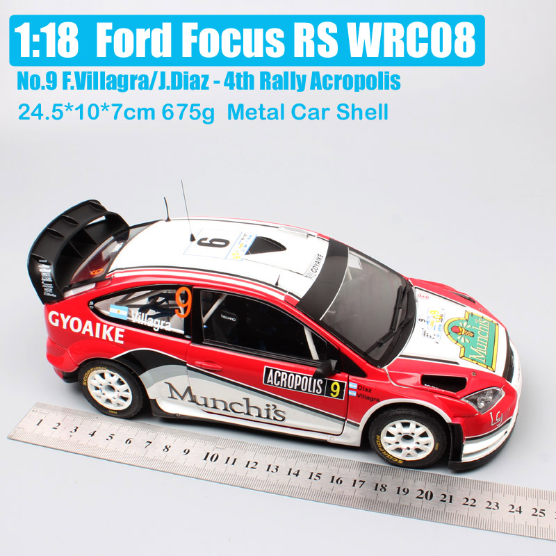 1 18 Scale large sunstar large Ford RS WRC 2008 driver No 9 F Villagra Rally Acropol Diecasts Toy Vehicles model race car toy in Diecasts Toy Vehicles from Toys Hobbies