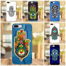 Untuk Apple Iphone X XS Max XR 4 4 S 5 5 S SE 6 6 S 7 7 Plus DIY Cetak Gambar TPU Phone Case Hamsa Mata Jahat Judaica Tangan(China)