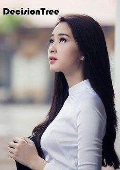2020 woman aodai vietnam traditional clothing ao dai vietnam robe and pants vietnam traditional clothing improved cheongsam
