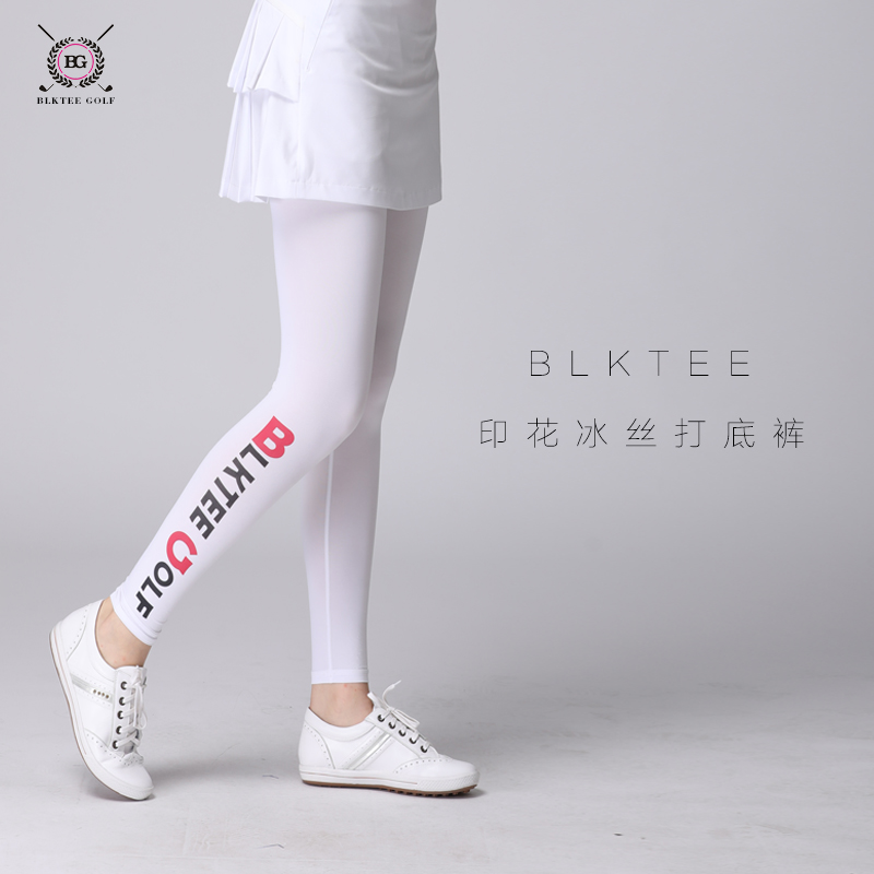 Blktee lady golf legging pants summer sunscreen base trousers viscose ice feeling elastic girl legging golf trousers