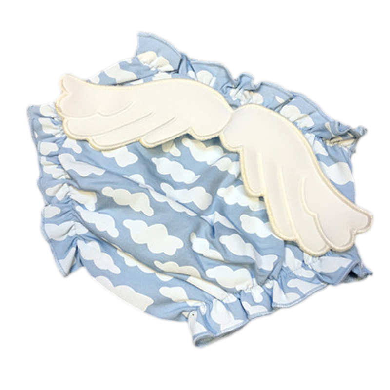 new Baby angel Cloud Wings Bloomers Shorts 100% Cotton Ruffle Girls/Boys Swimsuit Briefs Diaper Super Cute High Quality Cover