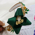 2016 Moda Hipérbole Joya Flor Corona Barroca Baile Hojas Venda Del Pelo Temperamento de Hadas Cinta Diadema de Pelo Cristalina de La Joyería de Regalo