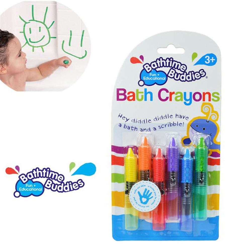 Drawing Toys 6pcs/set Baby Bath Toy Baby Bath Crayons Toddler Washable Bathtime Safety Fun Play Educational Kids Toy