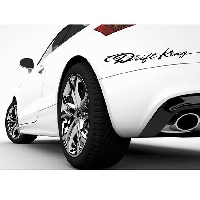 Funny drift king 3d car styling sticker 28 26cm vinyl car door body window accessories